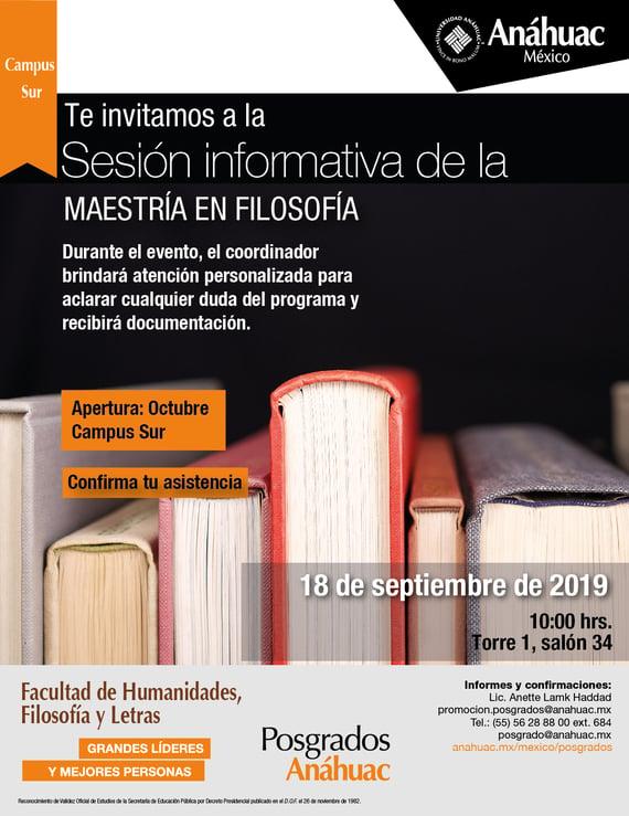 Sesión Informativa Filosofía 18 sep-01