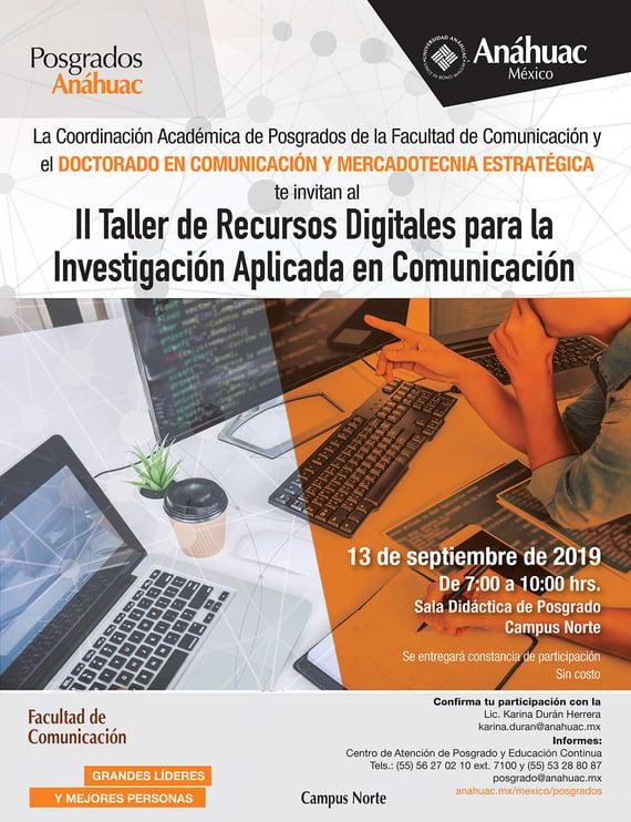 Taller de Recursos Digitales para la investigación-e. electrónico